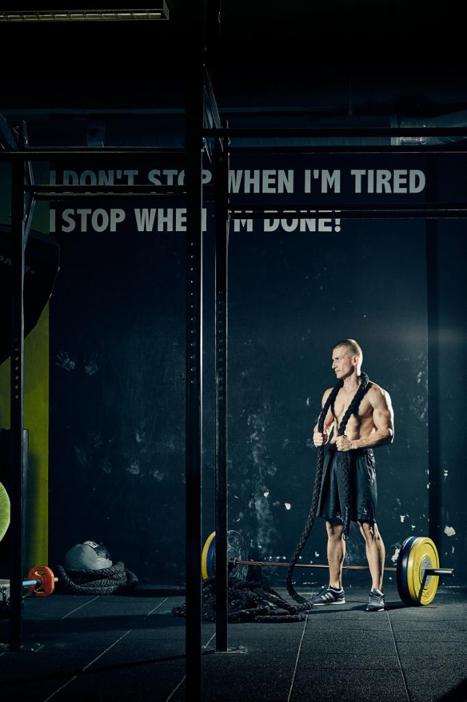 Fitness promo fotografie