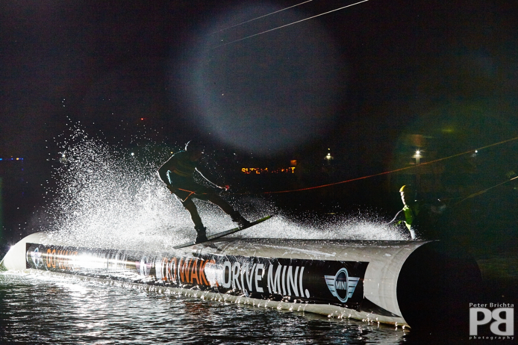 wakeboarding in night