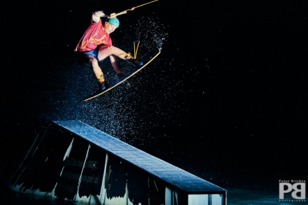 Wakeboarding in the dark