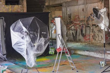 On location photo studio