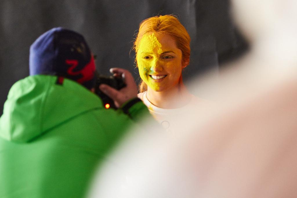 Color run portrait photographer