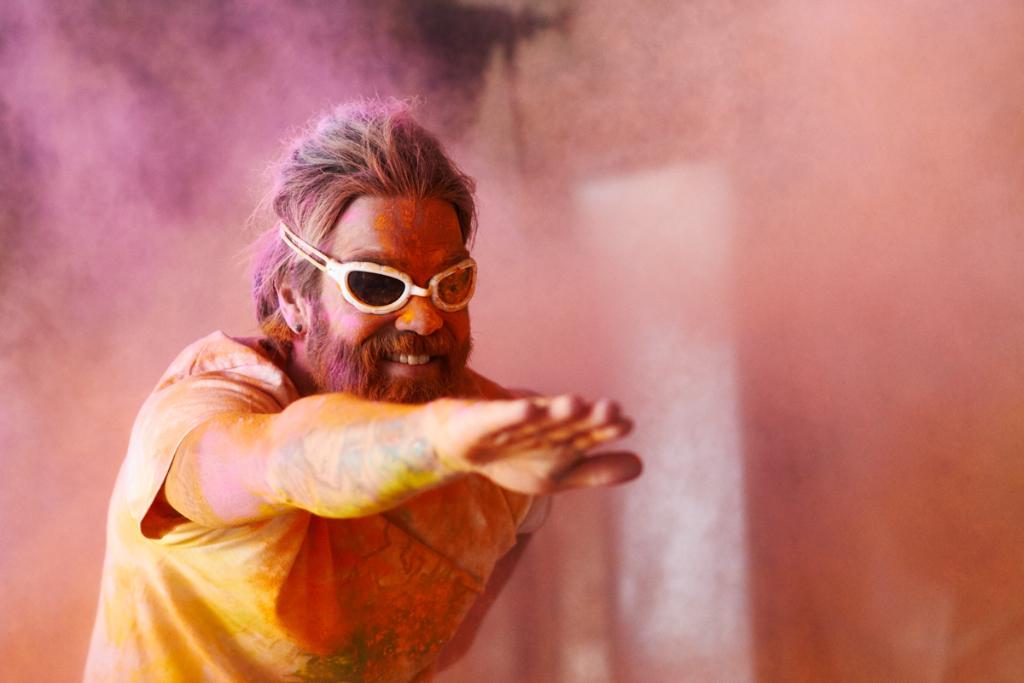 Holi color sport photography