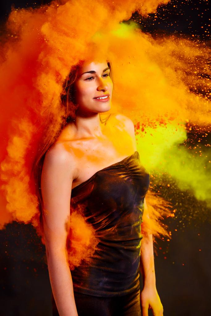 holi colours portrait
