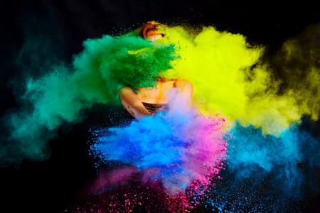 explosion of holi colours